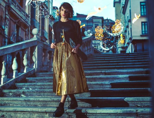 metal skirt outfit msgm