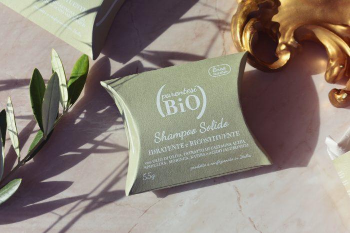 shampoo solido idratante ricostituente parentesi bio
