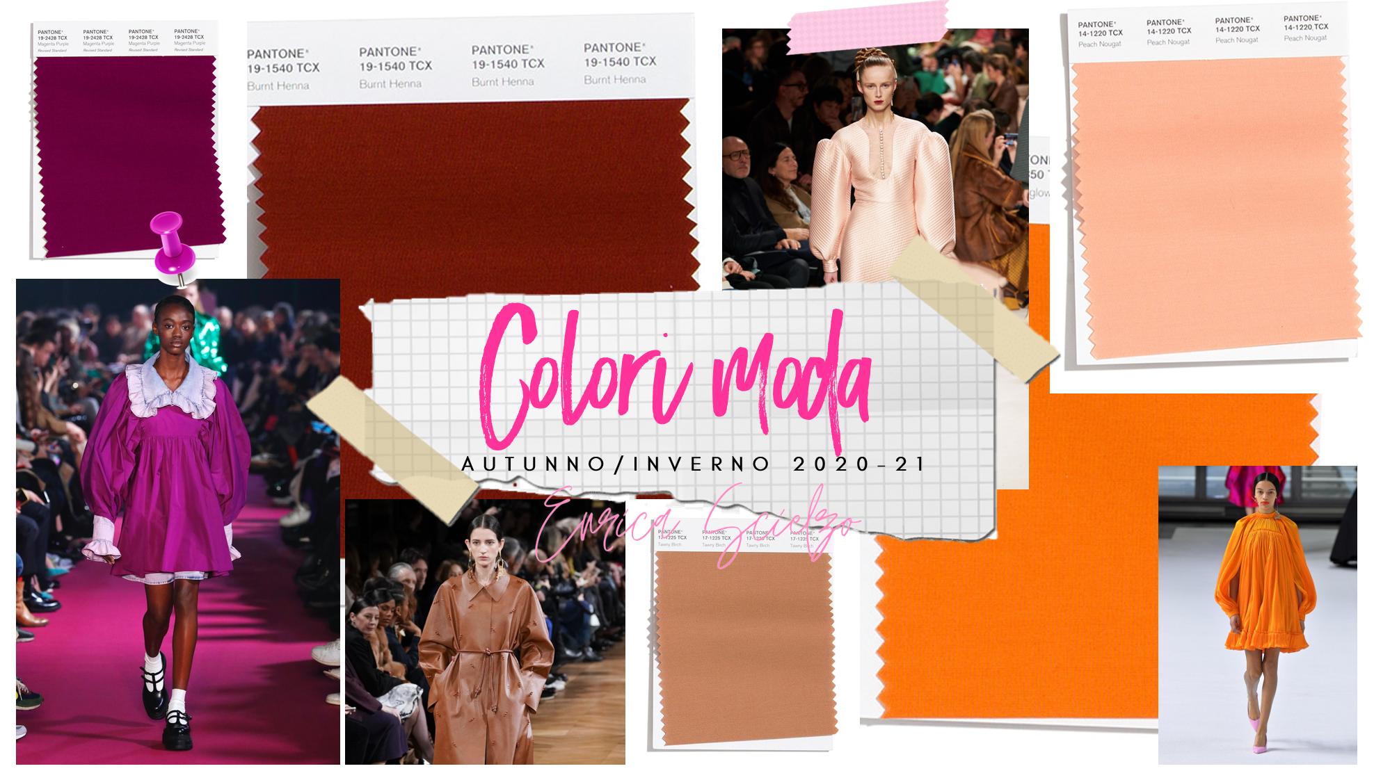 colori moda autunno 2020-21